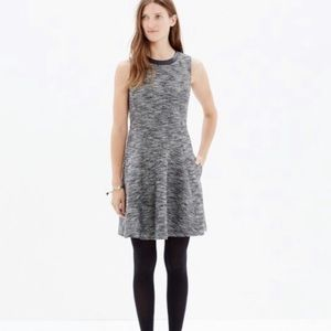 Madewell Gray Sleeveless Drop Waist Tweed Dress